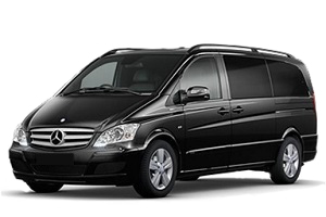 Transfer from Aeroport Barcelona to Calella by Mercedes Viano / Vito. Get by taxi with english-speaking driver.