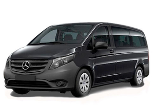 Transfer from Les Menuires to Grenoble Airport by Mercedes Vito. Get by taxi with english-speaking driver.
