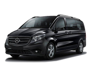 Transfer from Aeroport Barcelona to Calella by Mercedes V class. Get by taxi with english-speaking driver.